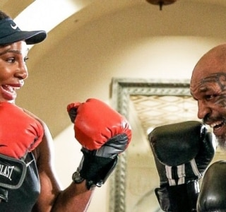 Serena Williams treina boxe com Mike Tyson