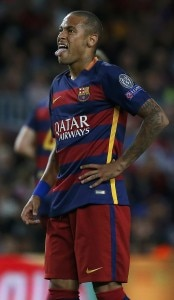 Barcelona's Neymar sticks out his tongue during their Champions League group E soccer match against Bayer Leverkusen at Camp Nou stadium in Barcelona, Spain, September 29, 2015. REUTERS/Sergio Perez